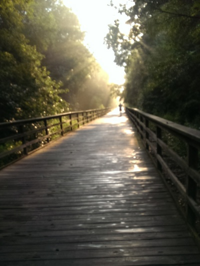Morning Sunrise on the Greenway